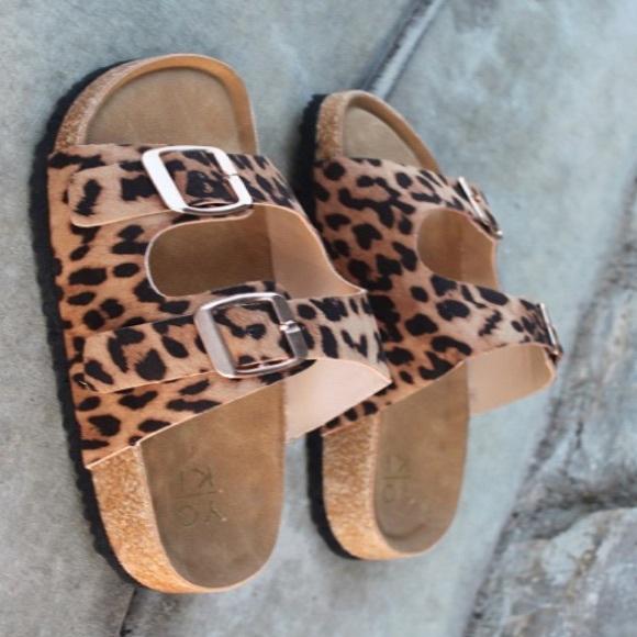 Pair Leopard Double Strap Sandal | Poshmark